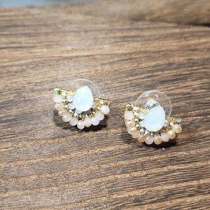 Opal cafe earrings